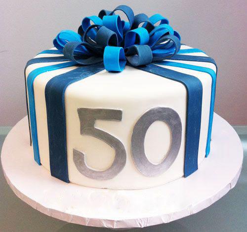 50 Blue Ribbon Dad Birthday Cake Father Cake Design