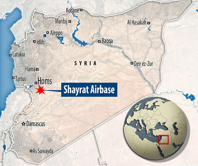 The US military fired more than 50 tomahawk missiles at the al-Shayrat military airfield near Homs at 8.45pm on Thursday