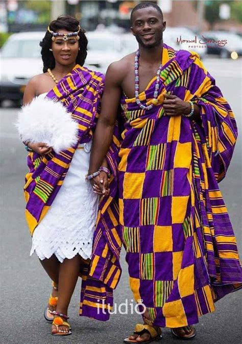TRD86   Vibrant Kente Couple Attire   Iludio