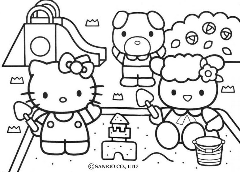Hello Kitty Bebe Az Coloriage