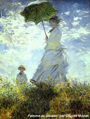 Femme au parasol par Claude Monet