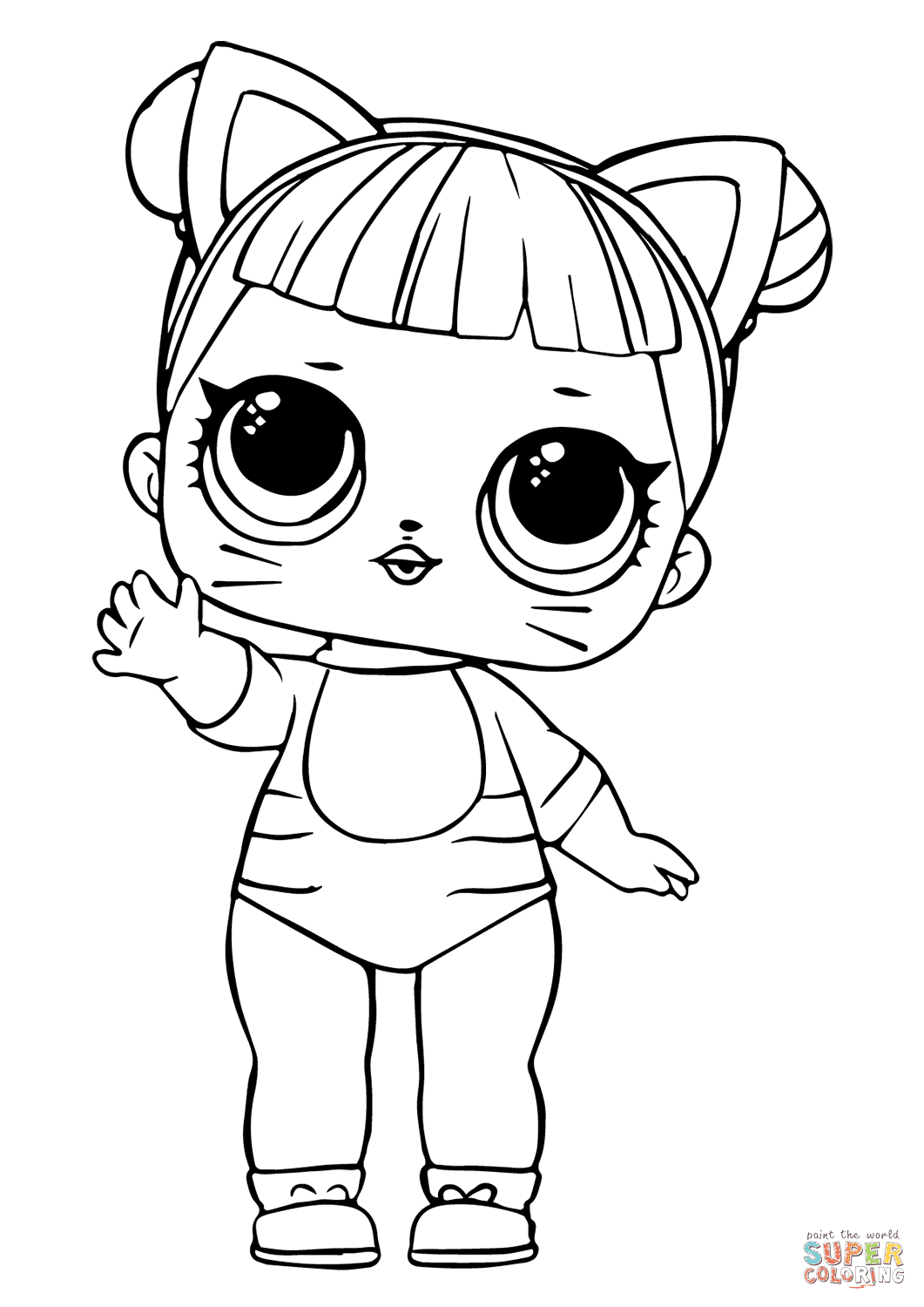 LOL Doll Baby Cat coloring page | Free Printable Coloring ...