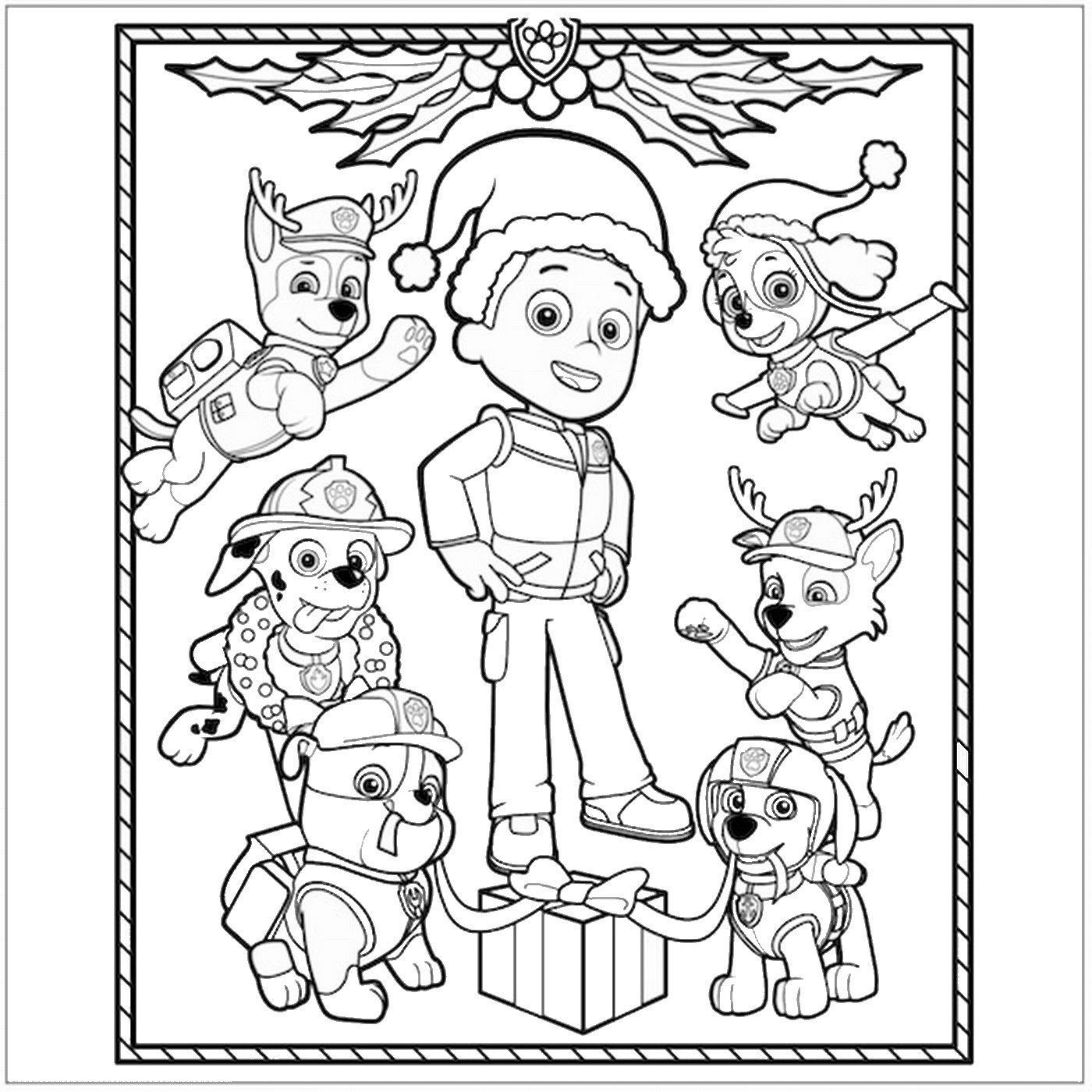 Paw Patrol Coloring Pages | Birthday Printable