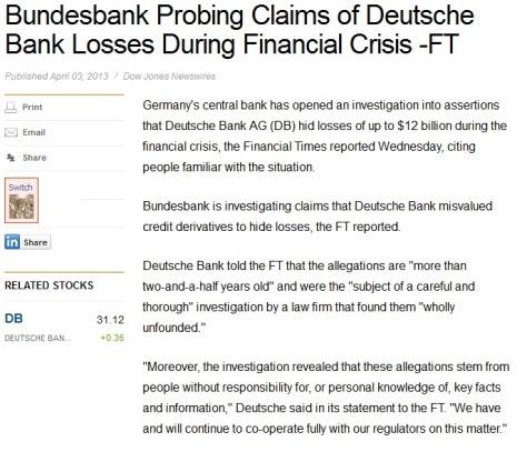 deutche bank financial times