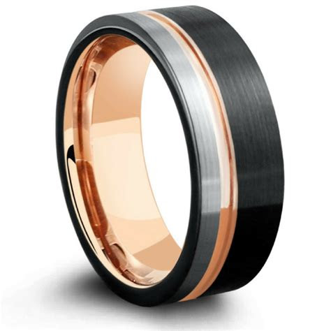 mens  tone tungsten wedding band northern royal llc