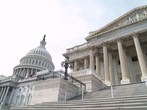US Capitol Senate Steps. Image form flick.com, user Sparky05