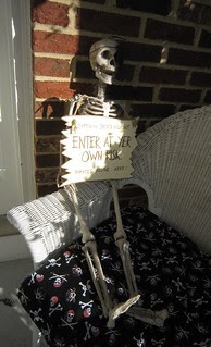 Pirate Birthday Party Decorations Skeleton Beware - web