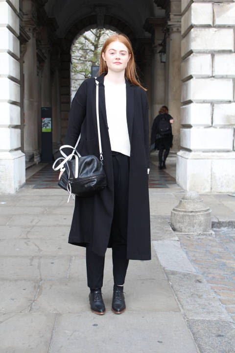 Hannah wears: Jacket: Monki, Jumper: Mango, Trousers: Zara, Shoes: Office
