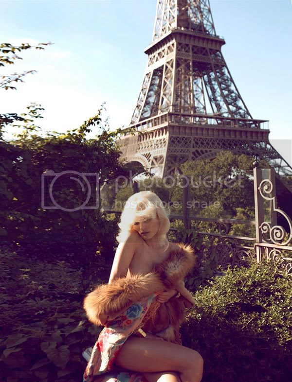 fur,floaty,blonde,eiffel tower,paris