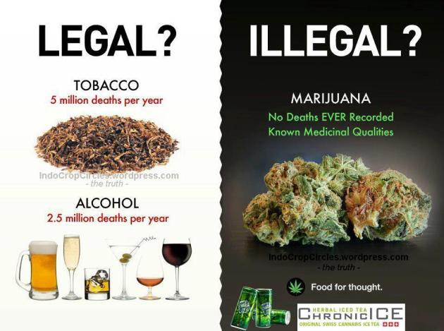 cannabis illegal and tobbaco legal