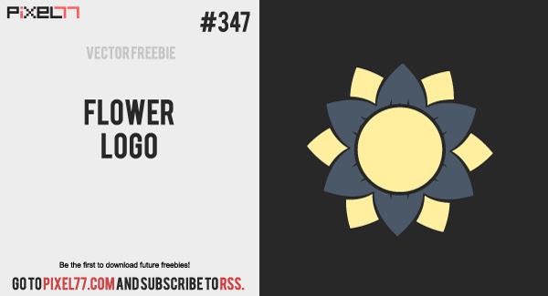 pixel77 free vector flower logo 0530 600 Free Vector of the Day #347: Flower Logo