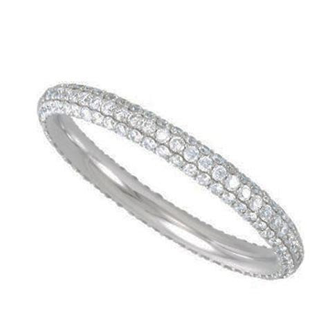 .75ct Micro Pave Diamond Eternity Band in 14k White Gold