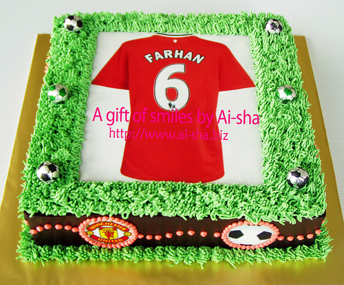 Birthday Cake Edible Image MU Jersey