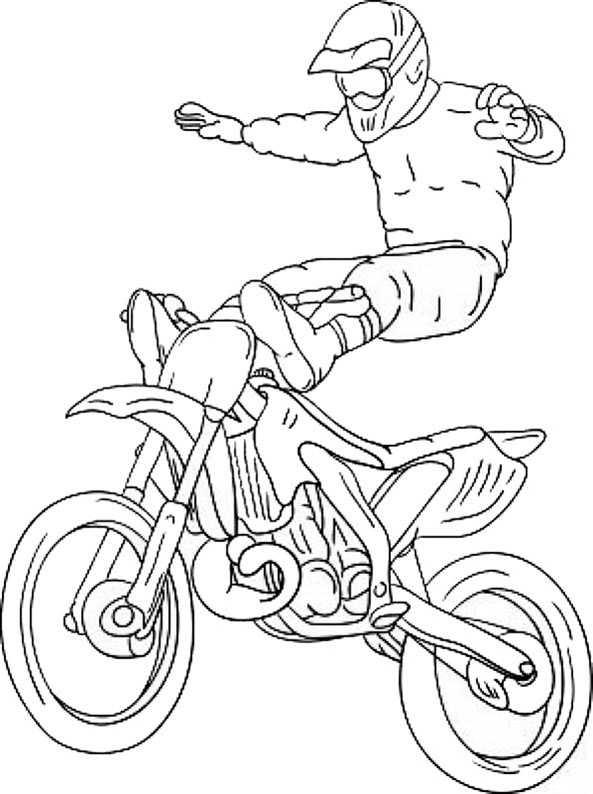 malvorlagen motocross ausmalen - malvorlagen