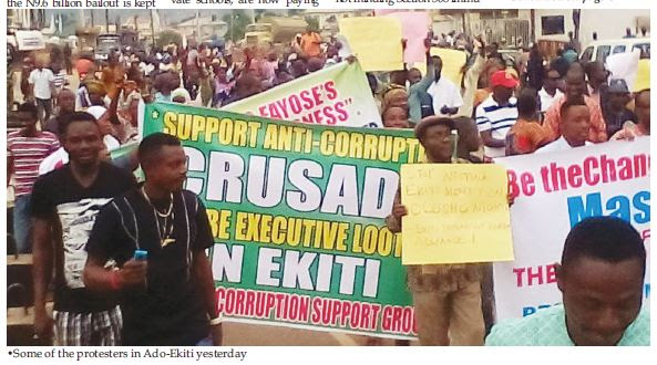 N4.7bn election fund scandal: Ekiti erupts in protest
