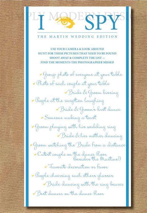 I spy Checklist Game Wedding Edition   Custom Colors