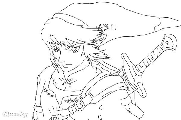 Zelda Coloring Page Link Amp Master Sword From Ocarina Of ... | 400x600