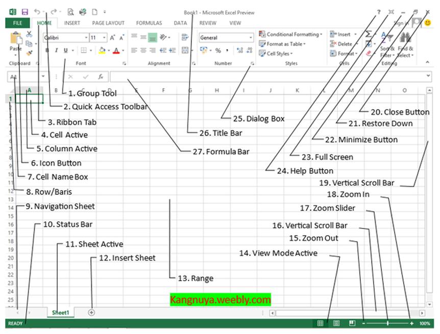 Lembar Kerja Excel Yang Terdiri Dari Beberapa Worksheet ...