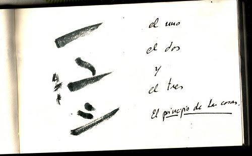 Caligrafía Japonesa. Biblioteca Nacional, Madrid