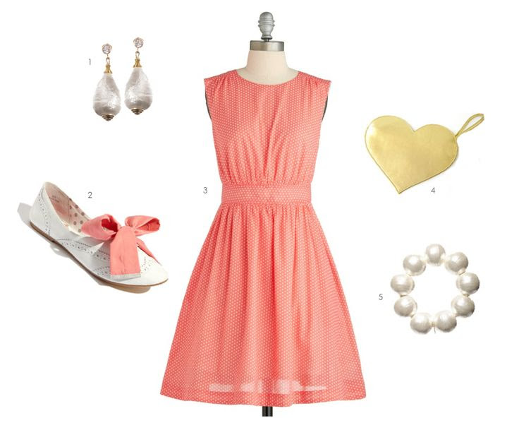 grapefruit color outfit perfect for your bridesmaids! http://burnettsboards.com/2012/11/grapefruit/