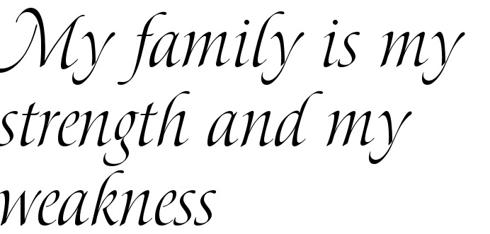 My Family Is My Strength And My Weakness Tattoo Lettering