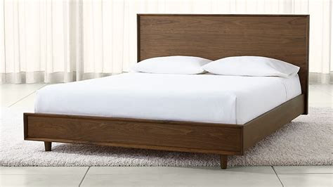 tate wood beds crate  barrel