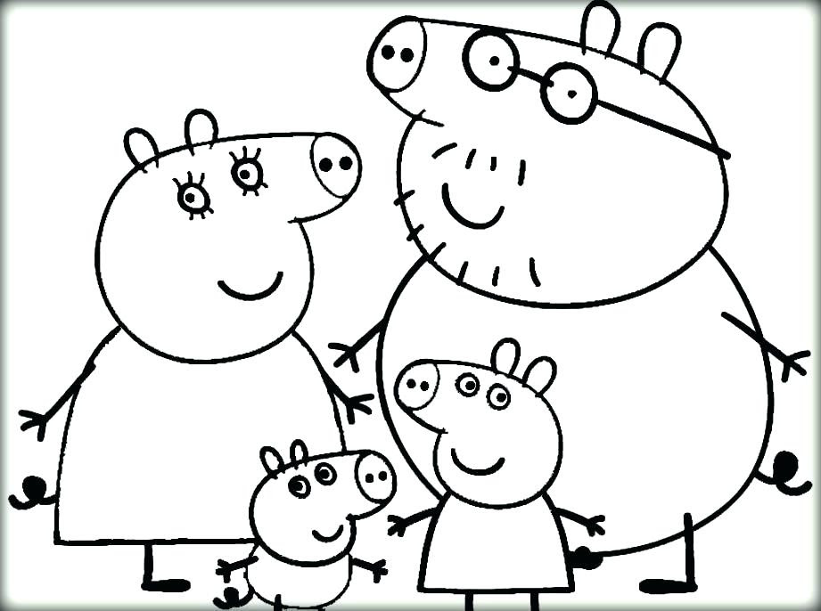 Peppa Pig Coloring Pages at GetColorings.com | Free ...