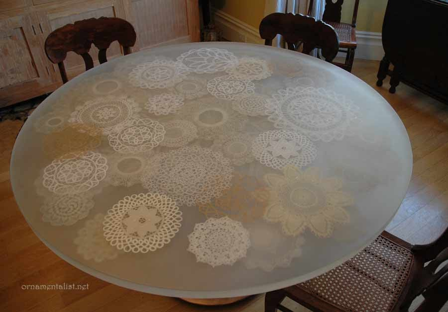 The Ornamentalist Lace Doily Table