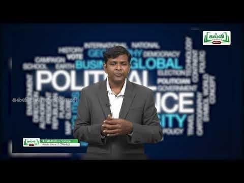 12th Political Science ஆட்சித்துறை அலகு 3 Kalvi TV