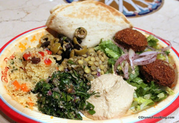 Vegetarian Platter at Tangierine Cafe in Epcot's Morocco Pavilion: is it right for you?