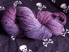 Deep Purple Cotton Sock