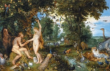 What does the tree in the middlie of the garden which God forbids Adam from eating symbolize? -forbidden fruit,garden of eden,