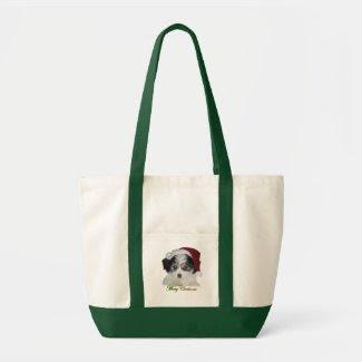 A Cavachon Merry Christmas Canvas Bag bag