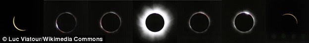 A total solar eclipse is only visible from a certain region on Earth and those who can see it are in the centre of the moon's shadow when it hits Earth. For a total eclipse to take place, the sun, moon and Earth must be in a direct line. The totality of the 11 August 1999 eclipse is shown
