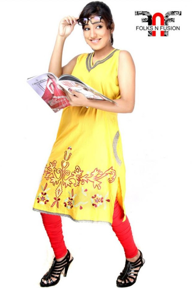 Folks N Fusion Tops-Kurti and Tights Fashion for Girls-Womens7