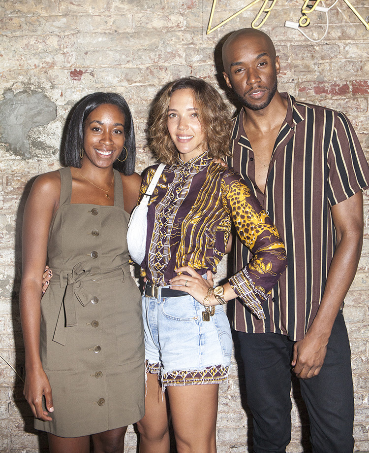 Chrissy Rutherford, Zoe Buckman, and Jae Joseph at the Love Notes Project cocktail fundraising event. Courtesy of the Love Notes Project.