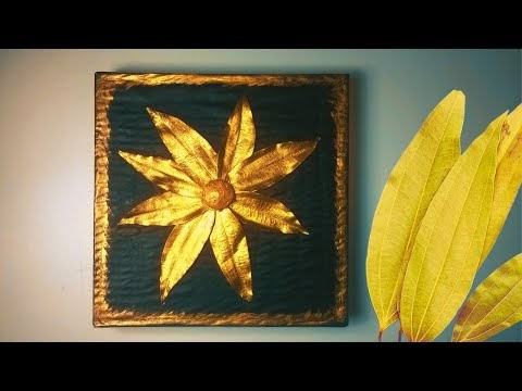 How to make a beautiful wallmate craft with dried bay leaves