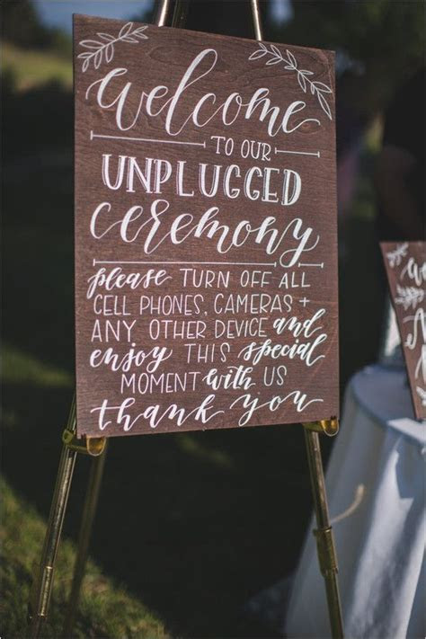 17 Best ideas about Unplugged Wedding Sign on Pinterest