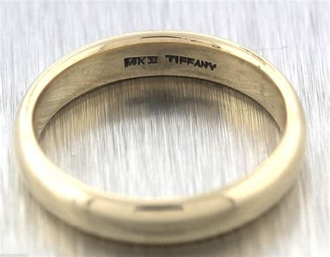 Tiffany & Co. Yellow Gold Men's 4.5mm Wedding Band Ring
