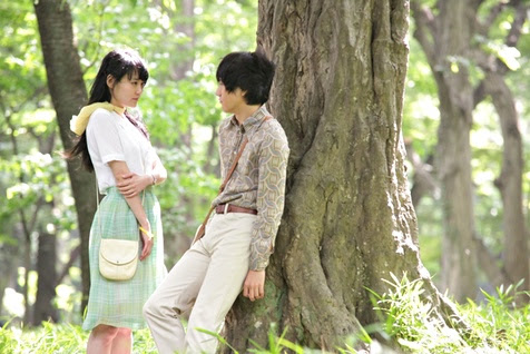 Still from the film of Murakami's Norwegian Wood (2011).