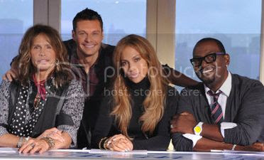 Steven Tyler, Ryan Seacrest, Jennifer Lopez and Randy Jackson
