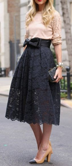 Love The Lace Skirt With Blush Top Eleg Ashley