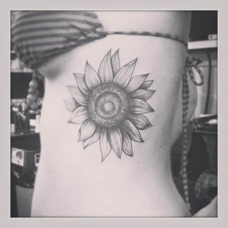 Black And White Sunflower Tattoo Tattoomagz