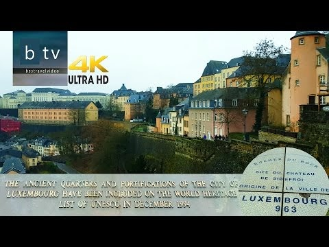 Luxembourg City travel videos walk through by bestravelvideo.com