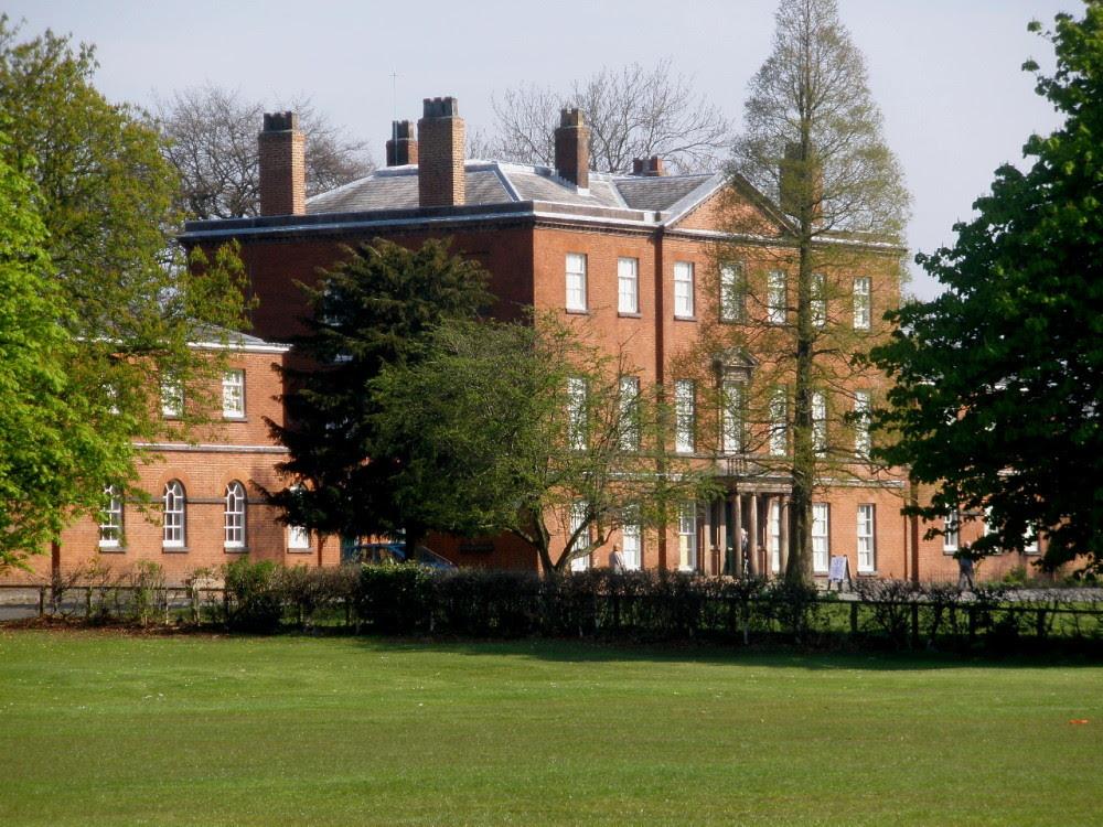 Platt Hall and costume museum in Platt Fields Park, Rusholme, Manchester, UK
