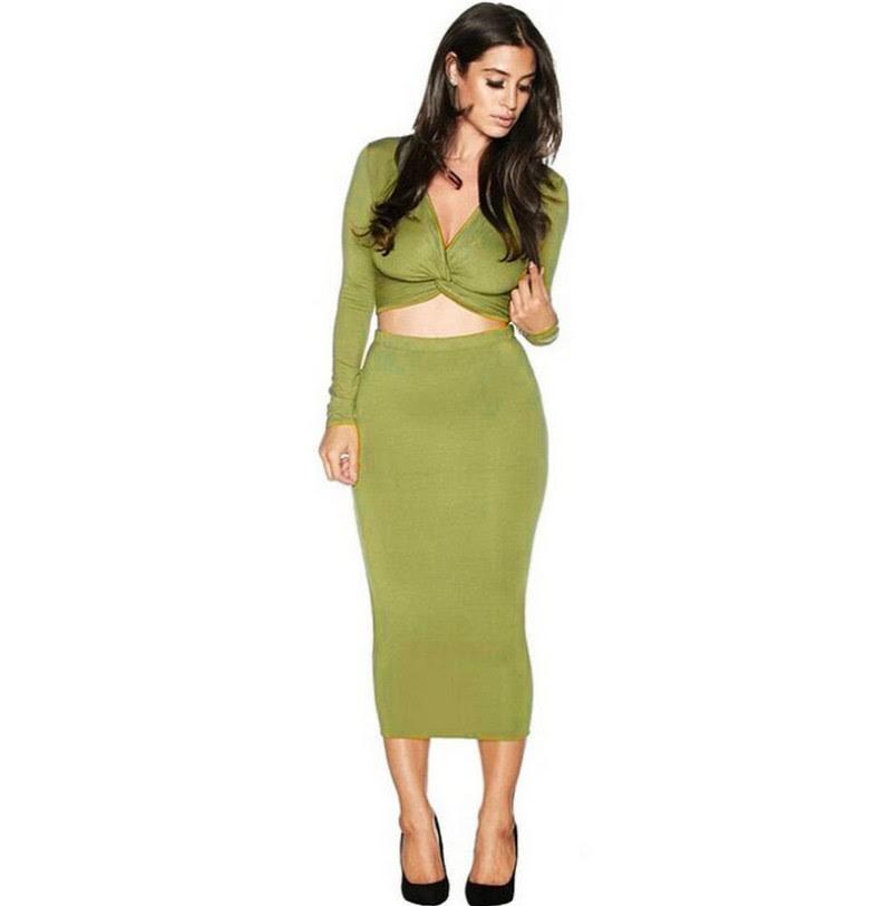 Size plus bodycon 2 dresses piece long