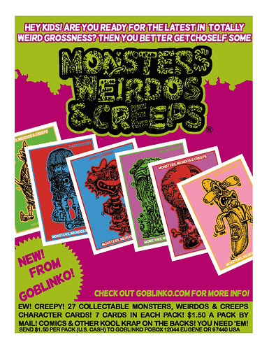 Monsters, Weirdos & Creeps Cards
