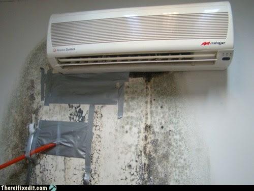 wall unit ac repair leaking