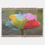 Colorful Macro Flower Throw Blanket