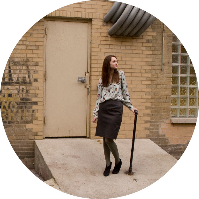 fashion blog, ootd, what to wear, outfit ideas, green tights, bird-print shirt, zara, gray pencil skirt, workfit, business casual, creative young professional, work wear, dash dot dotty, boots